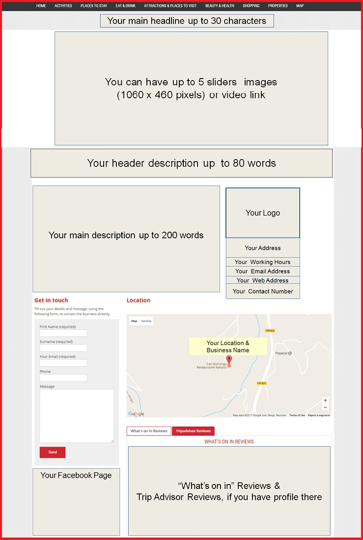 Sales Page Layout when Advertise in Edinburgh